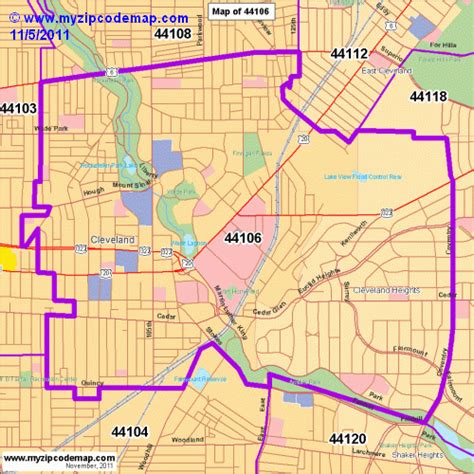 zip code map cleveland zip code map of 44106 demographic profile residential