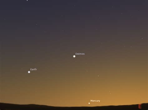 From Mars astroblog tonight s conjunction as seen from mars