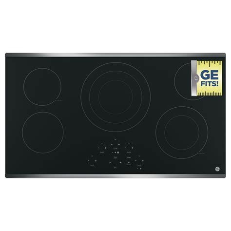 Radiant Cooktop Ge 36 In Radiant Electric Cooktop In Black With 5