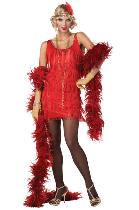 1920s costume on pinterest flapper costume 1920s sexy fashion flapper 1920 s adult halloween costume red