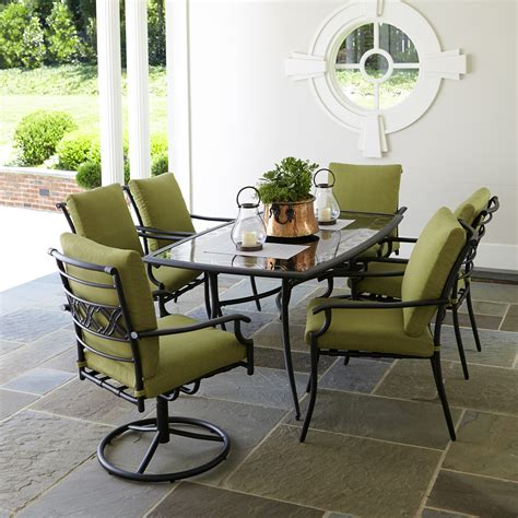 Patio Dining Set Garden Oasis Rockford 7 Dining Set In Green Sears