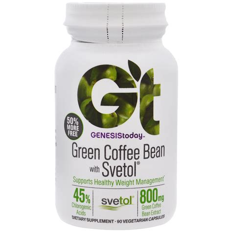 Green Coffee Bean genesis today green coffee bean with svetol 90