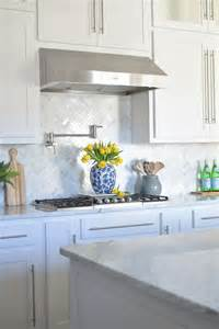 Carrara Marble Kitchen Backsplash by A Kitchen Backsplash Transformation A Design Decision