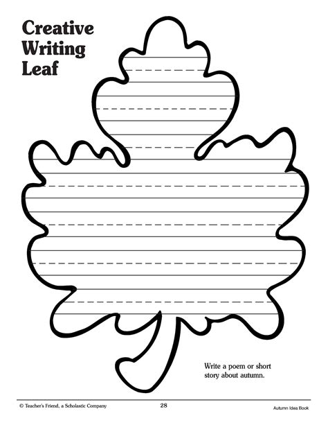fall leaf template for writing theleaf co