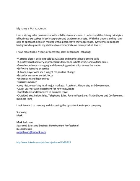 Cold Canvassing Cover Letter by Jackman General Cover Letter