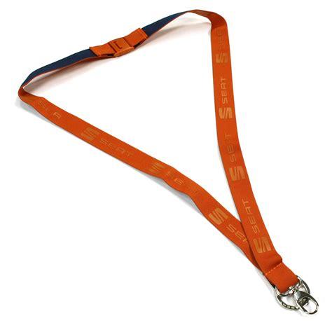schluesselband original seat band cup racer orange accessoires anhaenger lanyard ahw shop vw