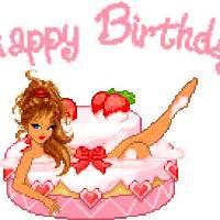 Animated birthday cake photo happy birthday 17 girl in cake hb dollz