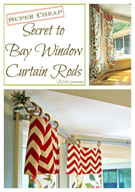 super cheap curtains the secret to diy bay window curtain rods from curtain