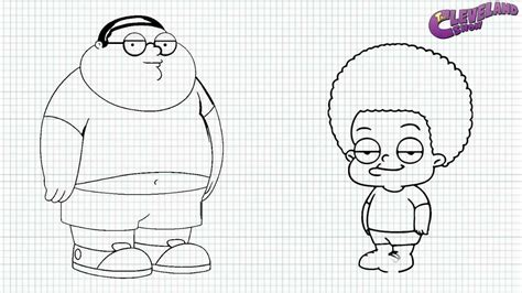 The Cleveland Show How To Draw Cleveland Jr And Rallo Cleveland Show Coloring Pages