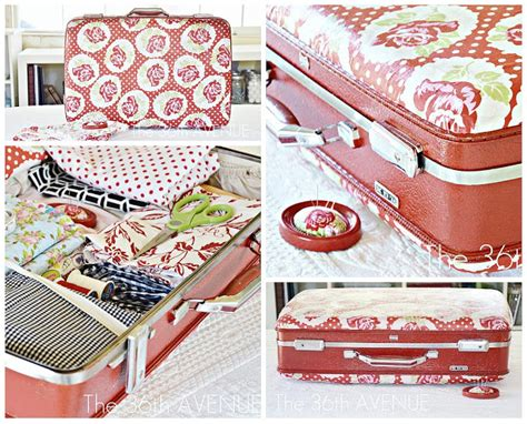 Decoupage With Fabric Tutorial - decoupage suitcase tutorial the 36th avenue