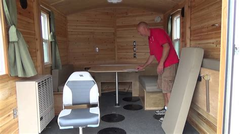 beberg outdoors   aluminum skid house customized
