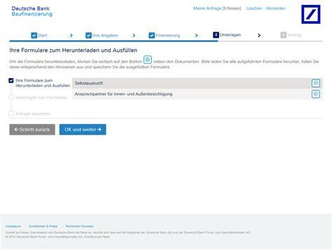 Deutsche Bank Baufinanzierung Test Und