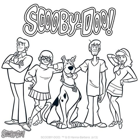scooby doo characters coloring pages az coloring pages