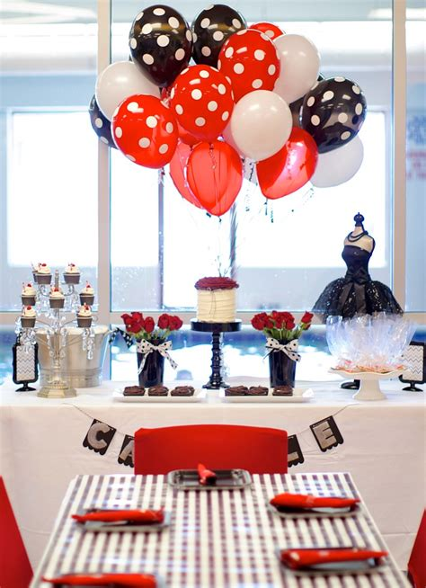 red and black paris themed bedrooms black white red birthday party guest feature