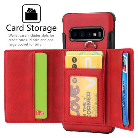samsung galaxy   se leather wallet card slot