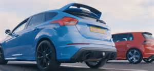 Ford Focus Racing Drag Race Ford Focus Rs Vs Vw Golf R Dpccars