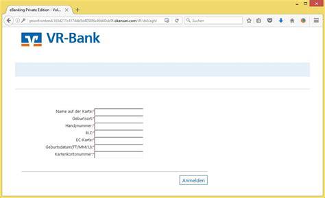 vr bank oder spree ihr konto wurde eingeschr 228 nkt e mail adresse des
