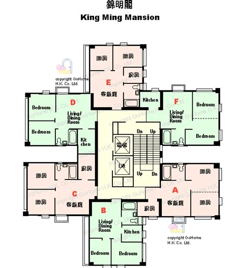Tenement Floor Plan Floor Plan Of King Ming Mansion Gohome Com Hk