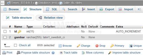 langkah membuat web dengan php cara membuat images slider dinamis dengan php dan mysql