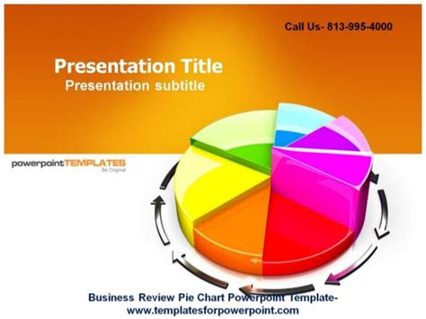 Business Review Pie Chart Ppt Background Powerpoint Review Templates