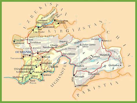 tajikistan road map