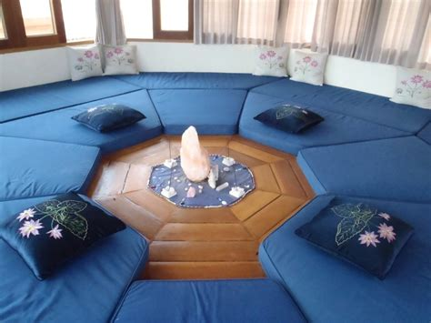 Home Yoga Room Design Ideas small hexagon meditation room design with hardwood floor