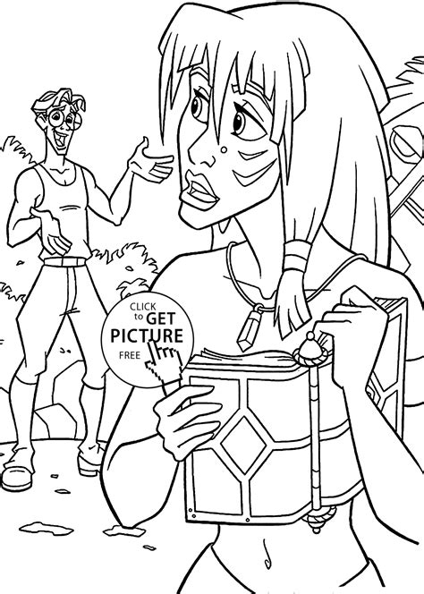 Atlantis The Lost Empire Coloring Pages For Kids Atlantis The Lost Empire Coloring Pages