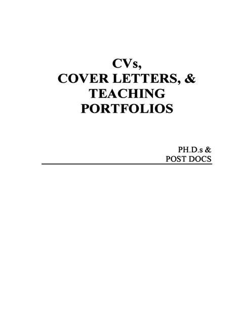 Cover Letter For Teaching Portfolio Cvs Cover Letters Teaching Portfolio Free