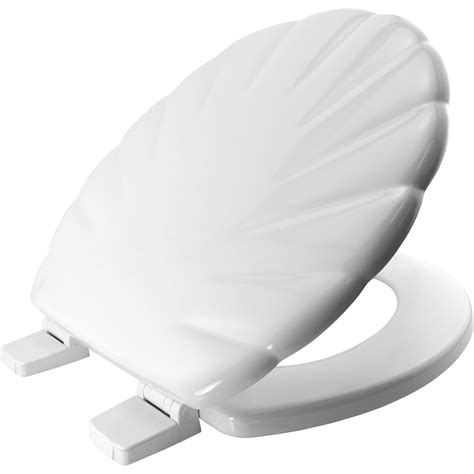 bemis shell pattern toilet seat white shell pattern