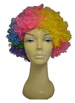 Rainbow B Wig Series funky disco rainbow afro wig fancy dress clown hair mens costume curly view more on