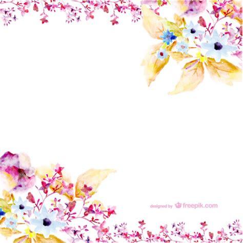 watercolor flowers vector art vector free download