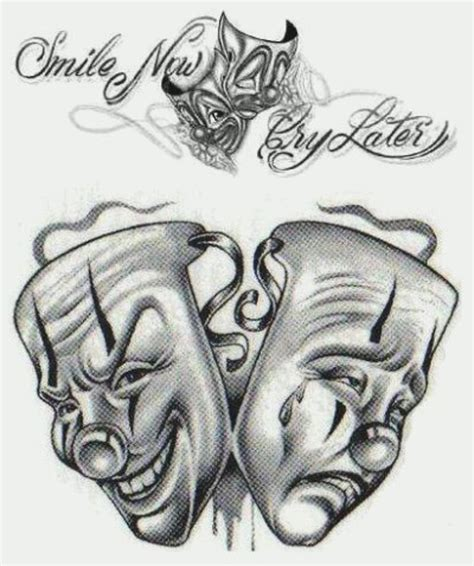 tattoo gangster grey ink clown masks gangster tattoos design