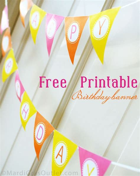 printable birthday banner for cake 15 free birthday printables happy nap times and banner