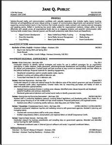 media and communications resume sample the resume clinic