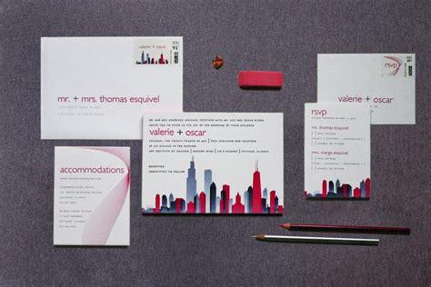 Wedding Invitations Chicago by Chicago Skyline Wedding Invitations Gourmet Invitations