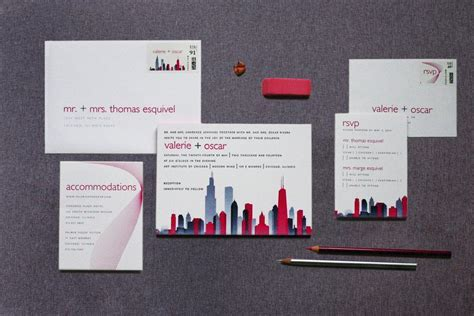 Chicago Skyline Wedding Invitations   Gourmet Invitations