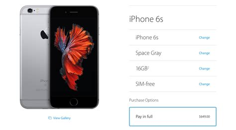 sim free unlocked iphone 6s and iphone 6s plus now available in the u s iclarified