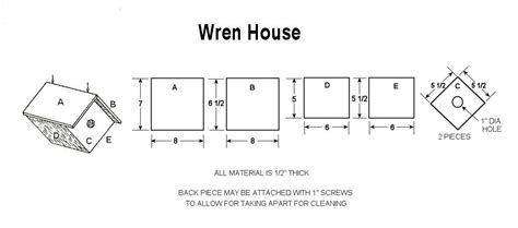 wren house plans pdf free home plans chickadee bird house plans