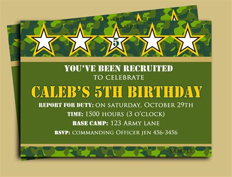 free printable hunting stationary camouflage birthday invitation printable or printed with free