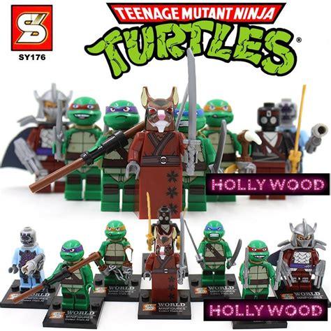Figurine Set Isi 8pc mutant turtles 8pc mini figures building blocks minifigures block build set
