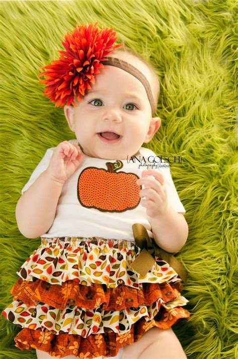 babys thanksgiving fall harvest thanksgiving 4 tier ruffle baby dress baby