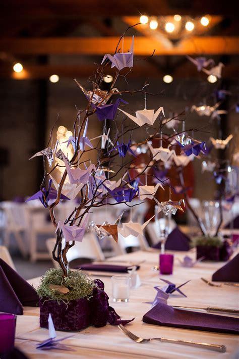 Paper Crane Reception Dinner Centerpieces   Table