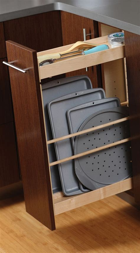 pull out trays for kitchen cabinets tray pull out cabinet from dura supreme cabinetry storing