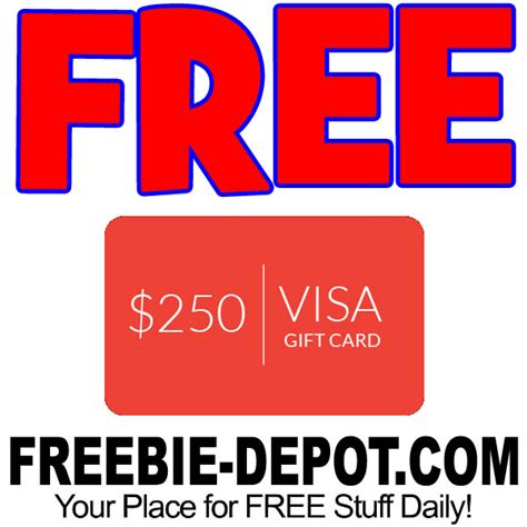 How To Get A Free Visa Gift Card Code - free online freebie depot