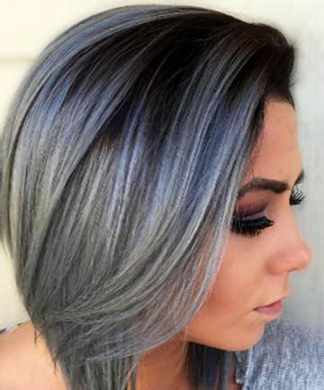 steely gray blue hair color for men blue steel bob 17 silver hair looks that will make you