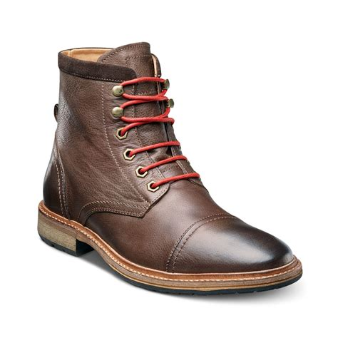 florsheim captoe laceup boots in brown for lyst