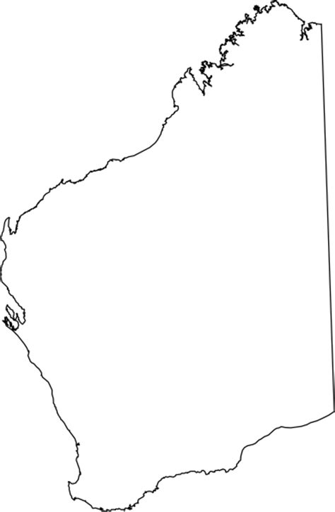 Australian Outline Map by Australian Maps Clip At Clker Vector Clip Royalty Free Domain