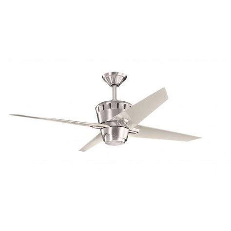 Stainless Steel Ceiling Fans With Lights Contemporary Brushed Stainless Steel Ceiling Fan And Light Kit