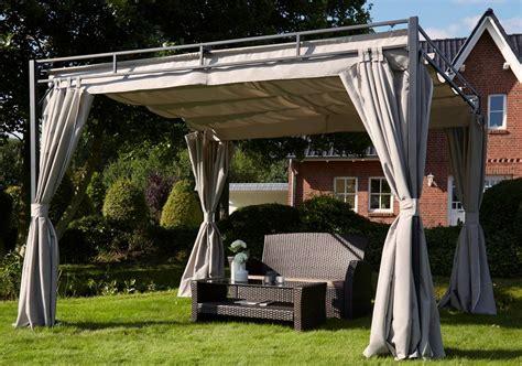 flachdach pavillon aluminium pavillon mit seitenteilen 187 flachdach pergola 171 3x3 m