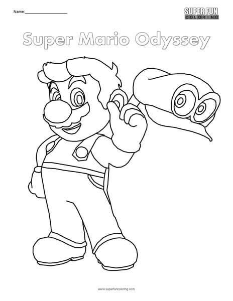 Coloring Pages Mario Odyssey   super mario odyssey nintendo coloring super fun coloring